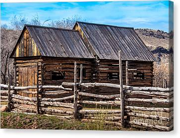 Historic Wooden Barn - Grafton Ghost Town - Utah Canvas Print by Gary Whitton