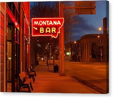 Historical Montana Bar Canvas Print by Leland D Howard