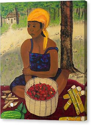 History Behind Caribbean Food Produces Canvas Print by Nicole Jean-Louis