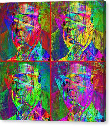 Hitchcock 20130618 Four Squares Canvas Print by Wingsdomain Art and Photography