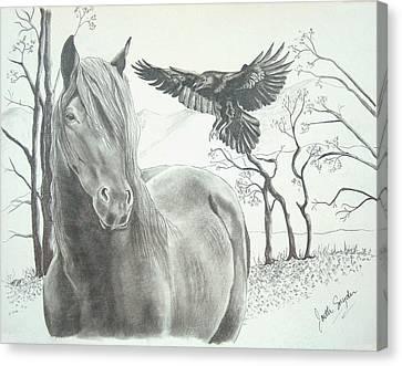 Hitch'n A Ride Canvas Print by Joette Snyder
