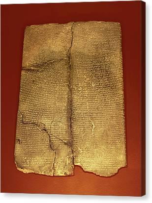 Hittite Cuneiform Tablet Canvas Print by David Parker