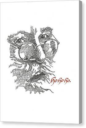 Ho Ho Ho Canvas Print by Sally Penley
