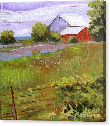Hobbs Farm Canvas Print by Charlie Spear