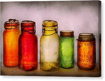 Hobby - Jars - I'm A Jar-aholic  Canvas Print by Mike Savad