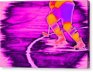 Hockey Freeze Canvas Print by Karol Livote