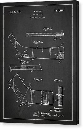 Hockey Stick Patent Drawing From 1929 Canvas Print by Aged Pixel