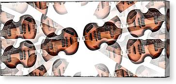 Hofner Bass Abstract Canvas Print by Bill Cannon