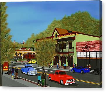 Hog Haus Canvas Print by Clinton Cheatham