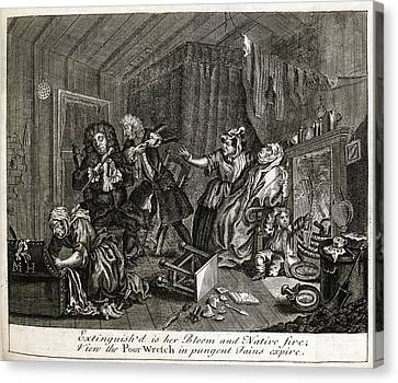 Hogarth On Venereal Disease Canvas Print by British Library