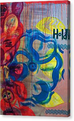 Hold Me // Kembe M' Canvas Print by Amanacer Originals