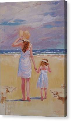 Hold On Canvas Print by Laura Lee Zanghetti