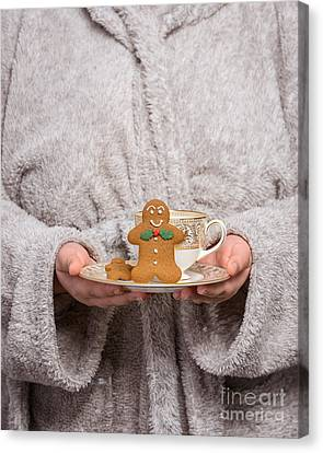 Holding Gingerbread Canvas Print by Amanda And Christopher Elwell