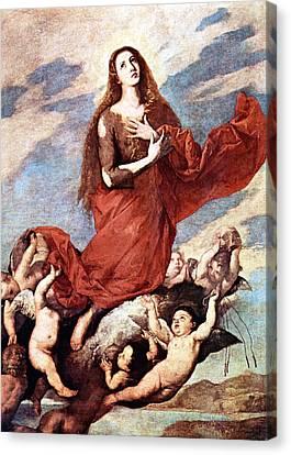 Holding Mary Canvas Print by Munir Alawi