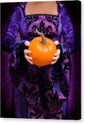 Holding Pumpkin Canvas Print by Amanda And Christopher Elwell