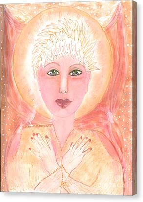 Holding The Sacred Space Canvas Print by Nancy TeWinkel Lauren