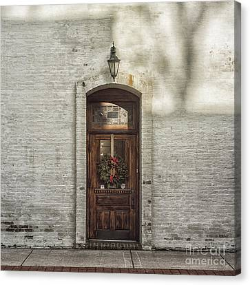 Holiday Door Canvas Print by Terry Rowe