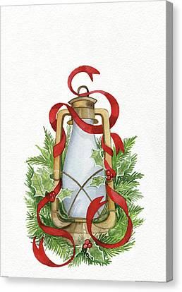 Holiday Lantern IIi Canvas Print by Kathleen Parr Mckenna