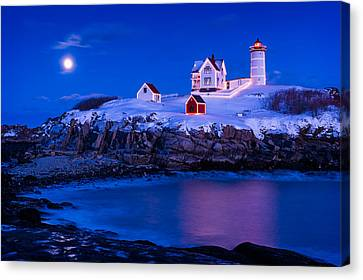 Holiday Moon Canvas Print by Michael Blanchette