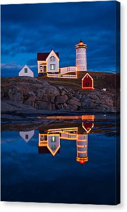 Holiday Reflection Canvas Print by Michael Blanchette
