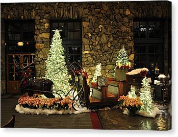Holiday Sleigh Hsp Canvas Print by Jim Brage