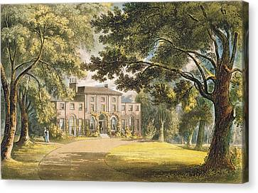 Holly Grove House, From Ackermanns Canvas Print by John Gendall