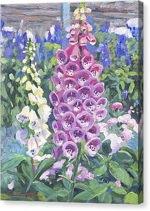 Foxglove Canvas Print by David Lloyd Glover