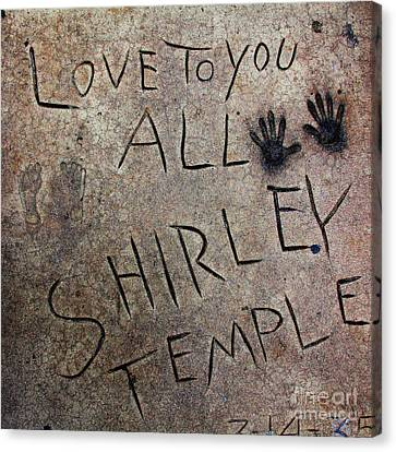 Hollywood Chinese Theatre Shirley Temple 5d29050 Canvas Print by Wingsdomain Art and Photography