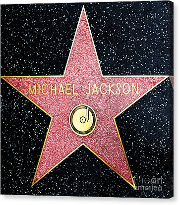 Hollywood Walk Of Fame Michael Jackson 5d28974 Canvas Print by Wingsdomain Art and Photography