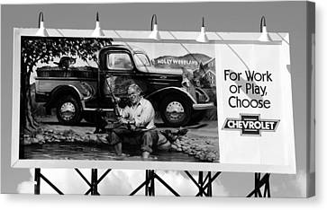 Hollywoodland Chevy Sign Canvas Print by David Lee Thompson
