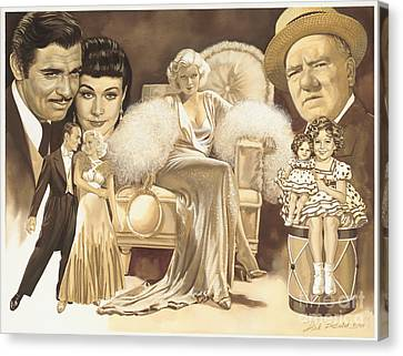 Hollywoods Golden Era Canvas Print by Dick Bobnick