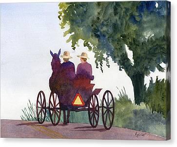 Holmes County Ohio Canvas Print by Marsha Elliott