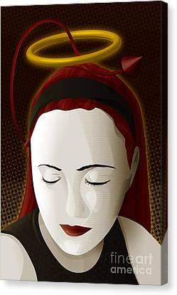 Holy Mary Canvas Print by Sandra Hoefer