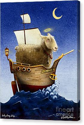 Holy Sheep Ship... Canvas Print by Will Bullas