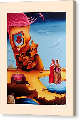 Surreal  Holy Virgin, M27 Canvas Print by Johannes Murat