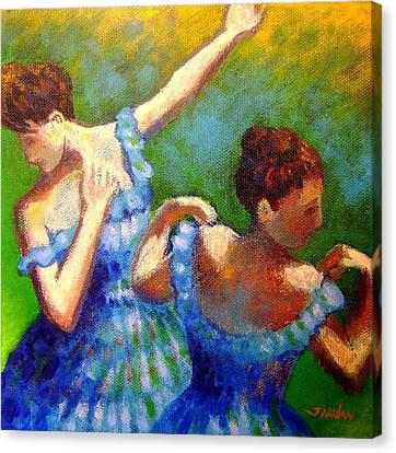 Homage To Degas Canvas Print by John  Nolan