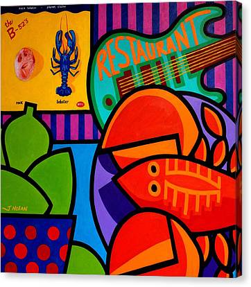 Homage To Rock Lobster Canvas Print by John  Nolan