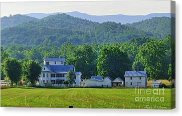 Homan Mill And Homestead Canvas Print by Teena Bowers