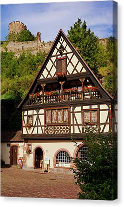 Home And Shop In Kaysersberg Canvas Print by Brian Jannsen