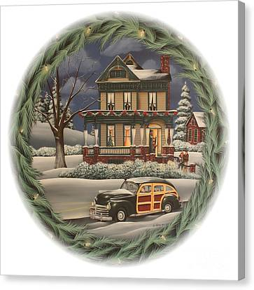 Home For The Holidays Canvas Print by Catherine Holman