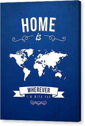 Home - Ice Blue Canvas Print by Aged Pixel
