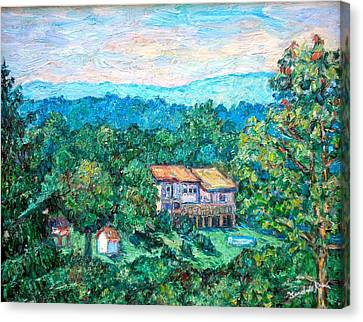 Home In The Hills Canvas Print by Kendall Kessler