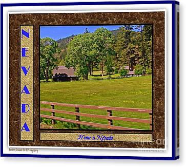 Home Is Nevada Canvas Print by Bobbee Rickard