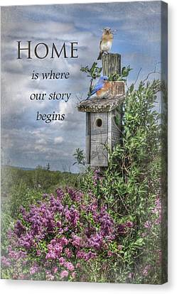 Home Is Where Canvas Print by Lori Deiter