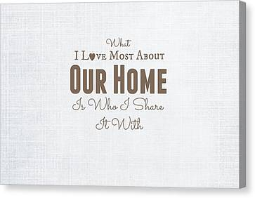 Home Is Where The Heart Is Canvas Print by Chastity Hoff