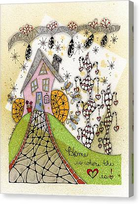 Home Is Where The Heart Is Canvas Print by Paula Dickerhoff