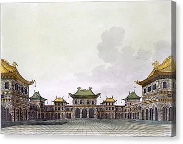 Home Of A Rich Individual In Peking Canvas Print by Italian School