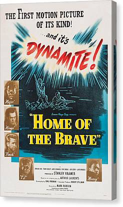 Home Of The Brave, Us Poster, From Top Canvas Print by Everett