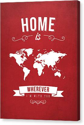 Home - Red Canvas Print by Aged Pixel