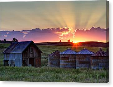 Home Town Sunset Canvas Print by Mark Kiver